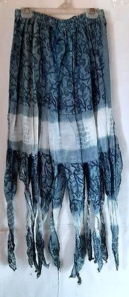 Gorgeous Long Blue Pixie Skirt