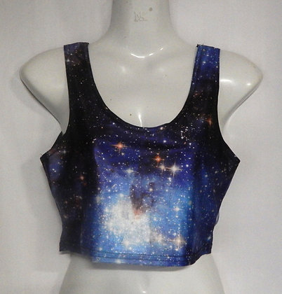 Blue Galaxy Crop Top