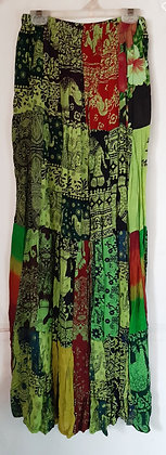 Ladies Thailand Long Patch Skirt