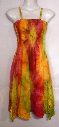 Tie Dye Short Tropical Summer Dress
