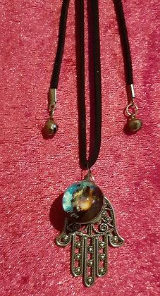 Hamsa & Planets Long Necklace