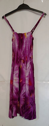 Ladies Short Tie Dye Maxi Dress