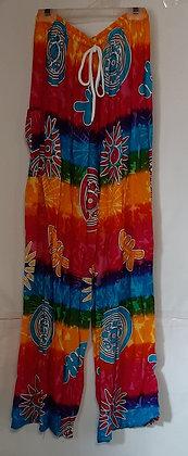 Ladies Thailand Tie Dye Straight Leg Pants