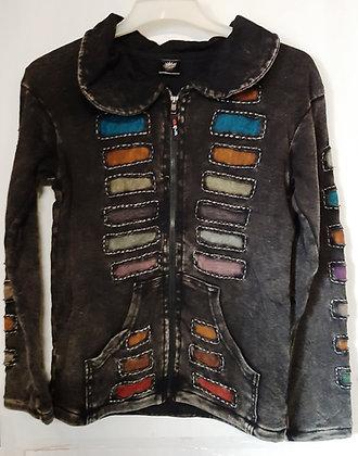 Unisex Nepal Black Long Sleeve Jacket