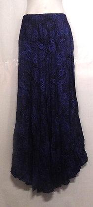 Paisley Printed Blue Long Thai skirt