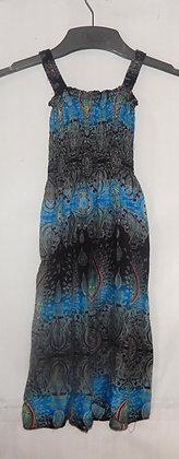 Girl's Blue Thailand Maxi Dress