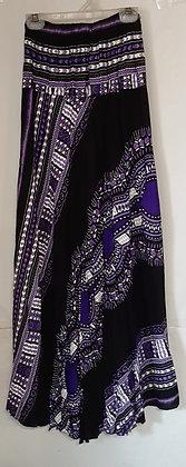 Ladies Long Thailand Tribal Print Skirt