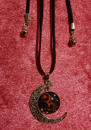 Cancer Moon Long Necklace