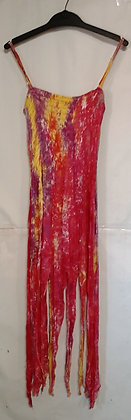 Ladies Long Pixie Tie Dye Maxi Dress