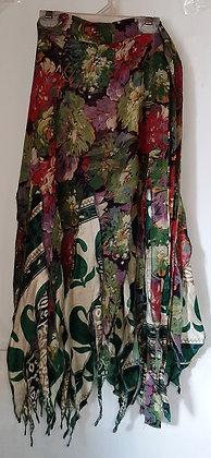Ladies Long Wrap Pixie Silk Skirt
