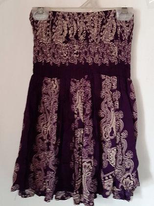 Ladies Thailand Short Purple Skirt