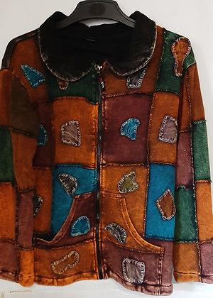 Unisex Nepal Long Sleeve Patch Jacket