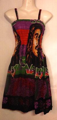 Bob Marley Print Summer Maxi Dress