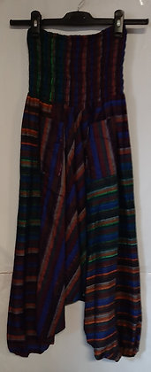 Ladies Aladin Harem Stripe Hippie Pants