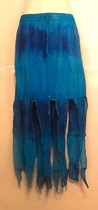Gorgeous Long Blue Tie Dye Pixie Skirt