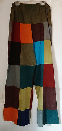 Men's Nepal multi color patch wide leg pants