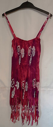 Ladies Short Pixie Tie Dye Maxi Dress