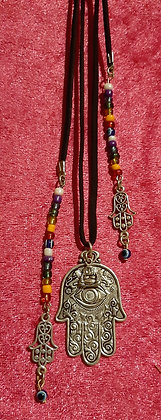 Hamsa Hand Long Necklace
