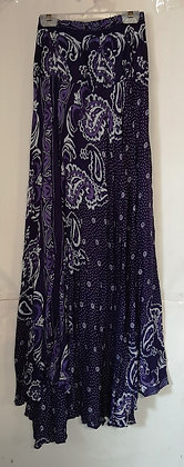 Paisley Printed Blue Long Thai skirt