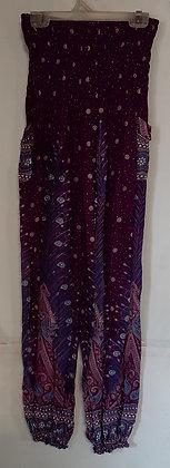 Ladies Thailand Peacock Straight Leg Pants