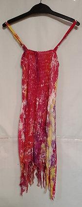 Ladies Short Pixie Tie Dye Maxi Dress