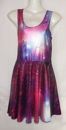 Gorgeous Pink Galaxy Skater Dress