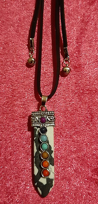 Chakra Reiki Crystal Long Necklace