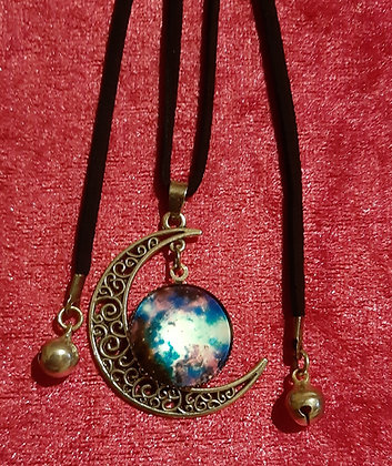 Moon & Planets Long Necklace