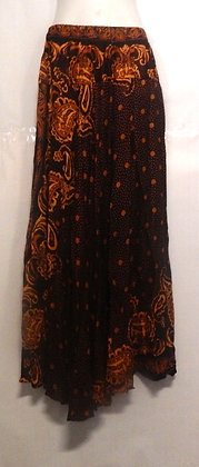 Paisley Printed Brown Long Thai skirt