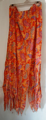 Gorgeous Orange Paisley Pixie Skirt
