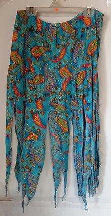 Gorgeous Blue Paisley Pixie Skirt