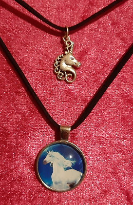 Unicorn Double Necklace
