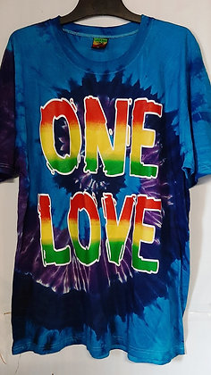 Men's one love tie dye T-Shirt
