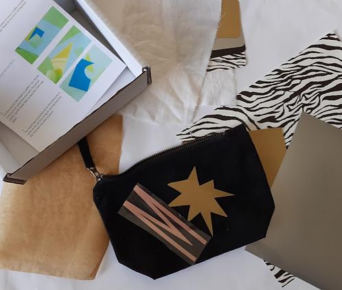 Cosmetic Bag DIY Printing Kit Craft Box Mess Free