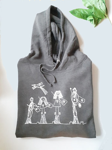 Unisex Hoodie with Childs Drawing
