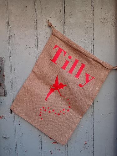Personalised Fairy Christmas Sack