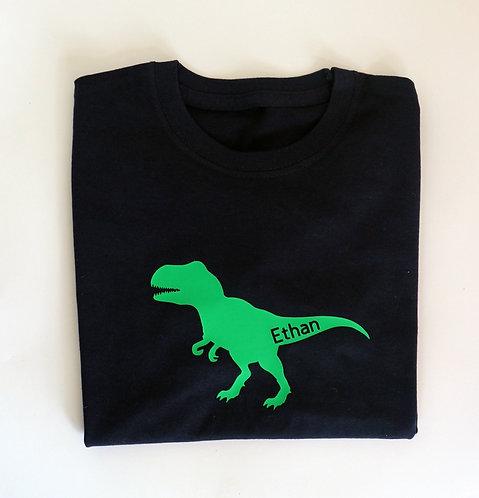 Personalised T Rex Dinosaur Sweat or T Shirt
