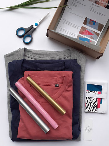 Family pack Craft Printing Kit on T Shirts