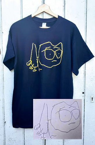Childs Drawing Adult Personalised T Shirt