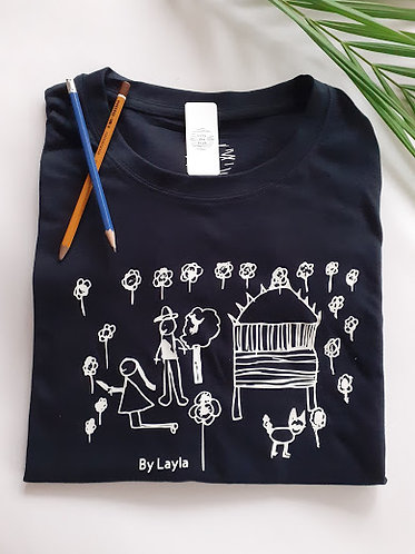 Childs Drawing Mens Personalised T Shirt