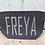 Thumbnail: Grey Felt Cosmetic Bag Personalised