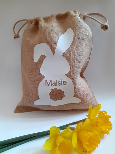 Easter Egg Hunt Bag Hessian Cotton