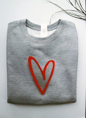 Adult Heart Sweatshirt