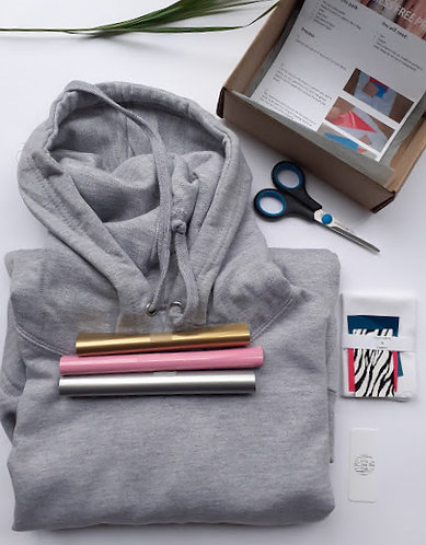 Hoodie Craft Printing Kit, DIY, Mess Free Child & Adult
