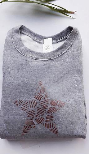 Adult  Patterened Star Sweatshirt / Hoodie