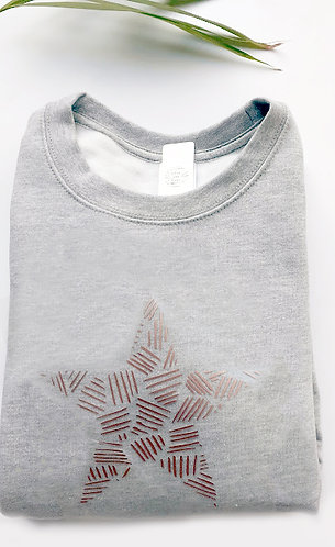 Adult  Patterned Star Sweatshirt