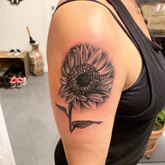Sunflower tattoo By Tine.jpg