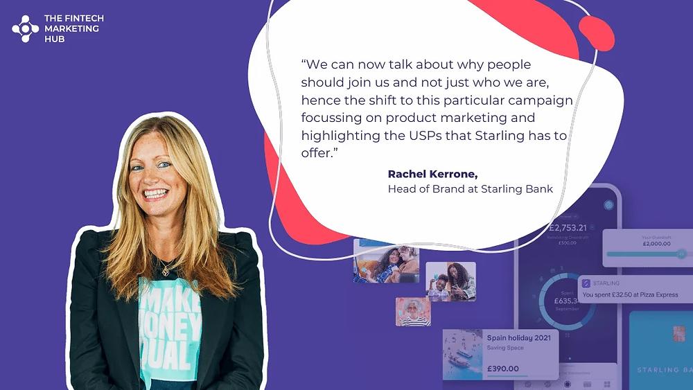Rachel Kerrone, Starling Bank, #MakeMoneyEqual, Quote