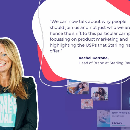 Starling Bank shifts from brand to product marketing and appeals to #MakeMoneyEqual