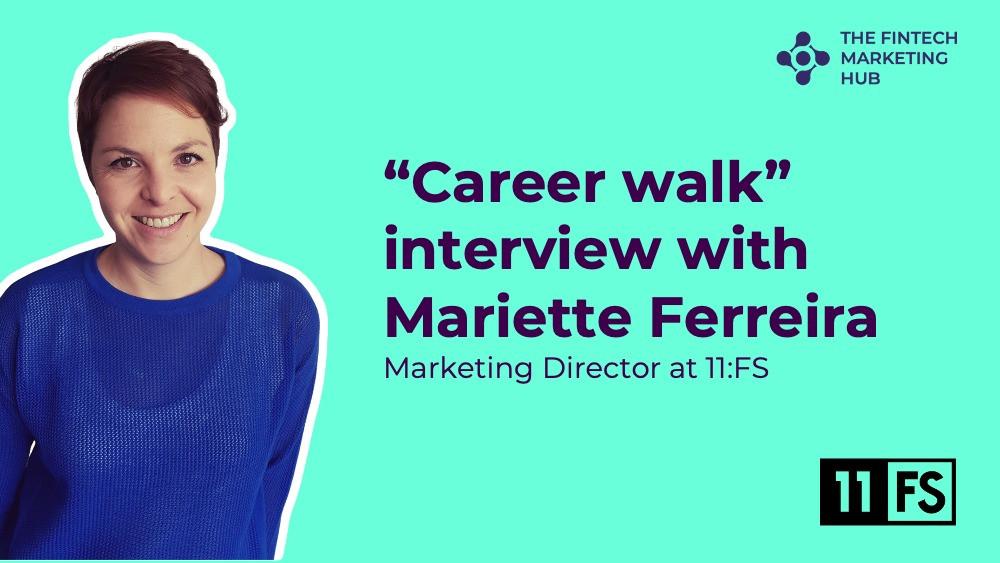 Career walk interview with Mariette Ferreira of 11:FS